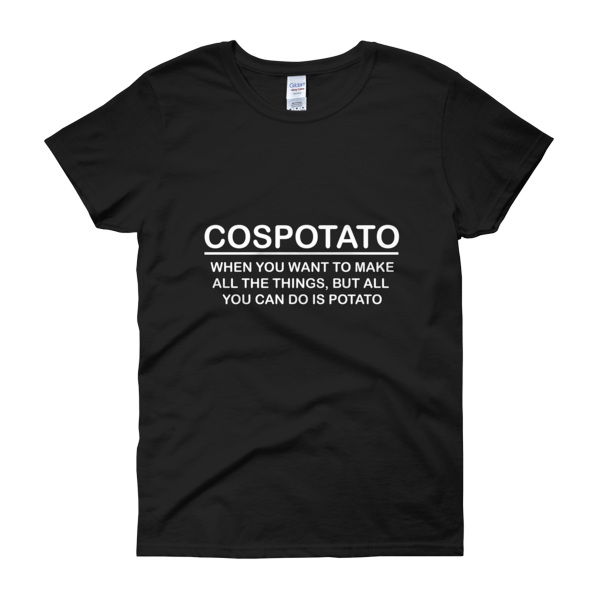 Cospotato (with Definition) Womens Tee