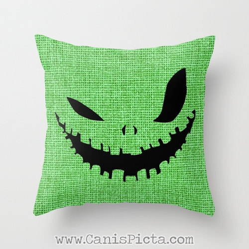 Oogie Boogie Nightmare Before Christmas Throw Pillow 16x16 Cover Unique Scary Cute Halloween Nmbc Tim Burton Nmbc Monster Movie For Fan Gift Bogeyman