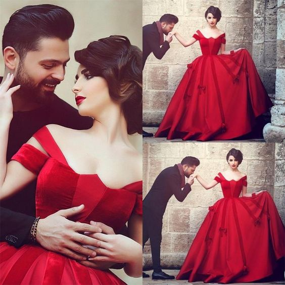 Ball Gown Red Prom Dress-long Prom Dresses-prom Dresses-evening DressProm GownsFormal Women Dress-prom Dress
