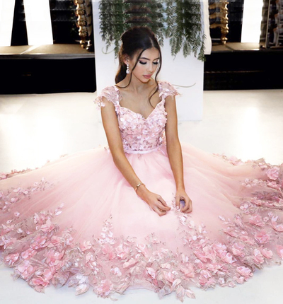 Charming Prom DressSexy Prom DressLong Evening Dress-tulle Formal Gown
