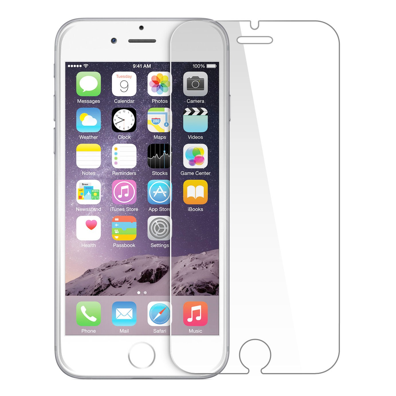 premium selection d892e 4bc5e iPhone 6+, 6s+ GLASS Screen Protector Crystal Clear