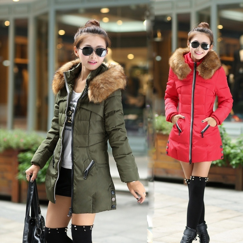 Winter Jacket Women Hooded Winter Jacket Women Cotton Quilted Coat Parka Womens Winter Jackets Casual Outerwear