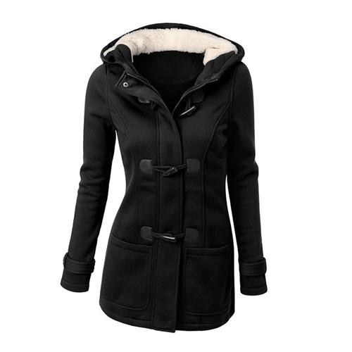 Womens Outerwear Coats 2017 Winter Jacket Women Wool Blends Long Sleeve Woman Clothing Warm Hoodies Slim Sweatshirt