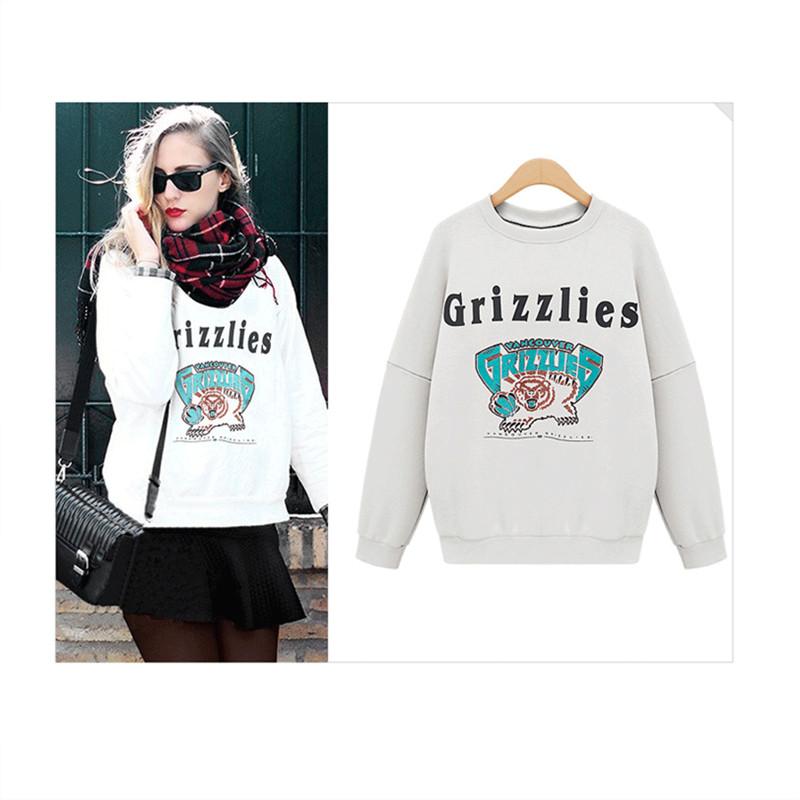 2016 Autumn And Winter Women Fleeve Hoodies Printed Letters Womens Casual Sweatshirt Hoody Sudaderas Size M-xxl