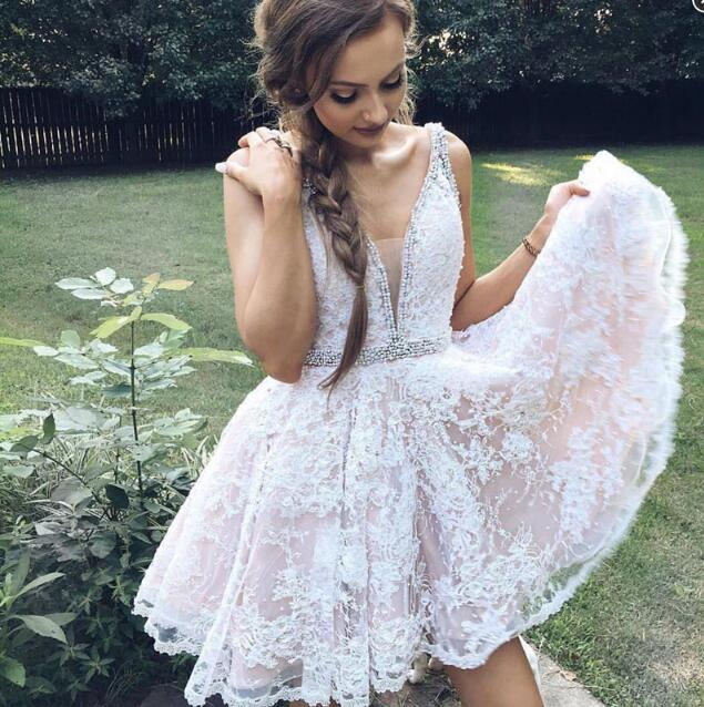 Charming Prom DressSexy Evening DressLace Prom GownElegant Homecoming Dress
