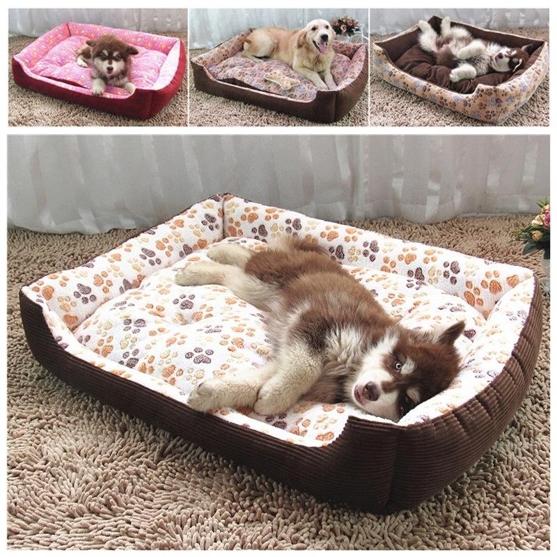 Footprints Kennel High-quality Warm Winter Pet Dog Bed Mat Pet Supplies