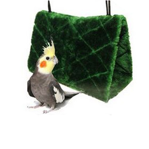 New Arrival Bird Hammock Hanging Cave Cage Plush Snuggle Happy Hut Tent Bed Bunk Parrot Toy