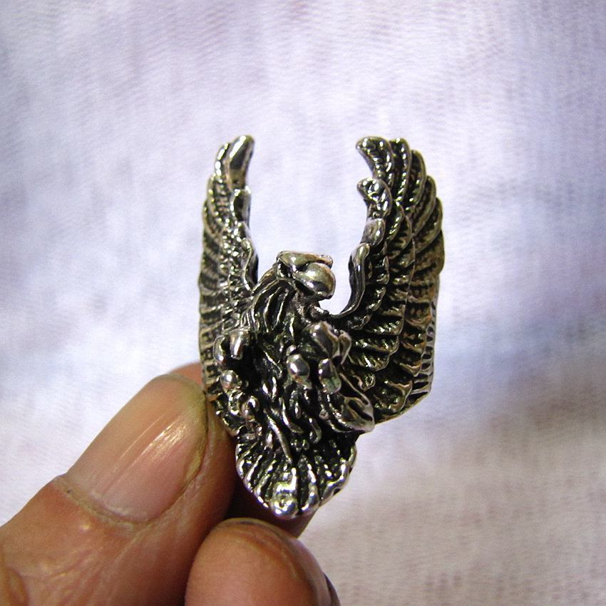American Flying Eagle Ring  Silver