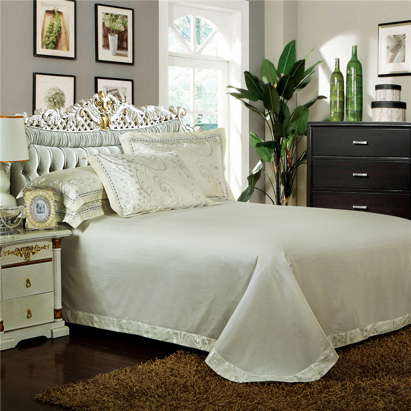 Bedding Set 100% Cotton Stain Jacquard Luxury Hand Make Embroidery Queen King Size Sheet+duvet Cover+ Pillowcase Discount