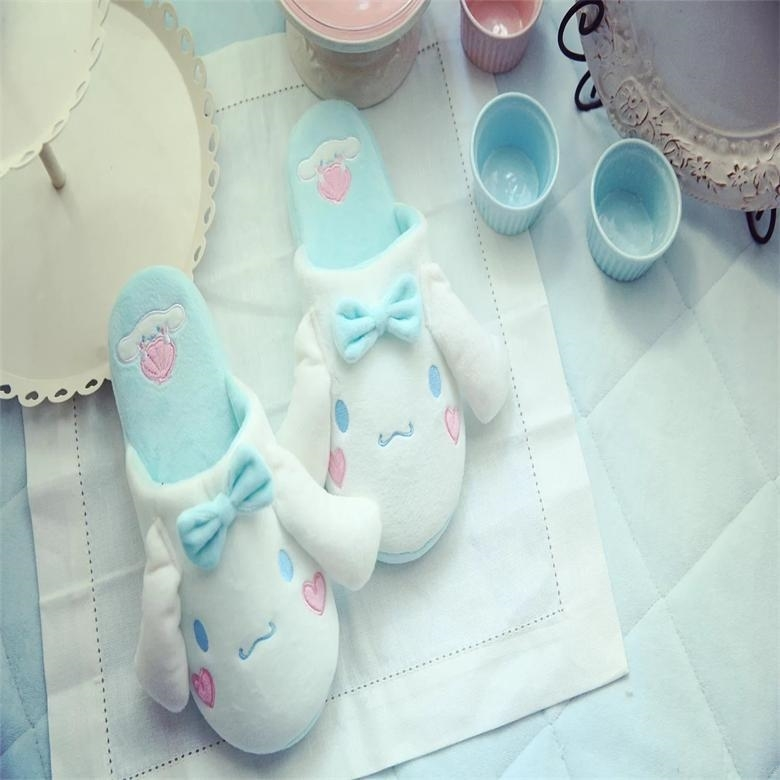 Mori Cute Cartoon Cinnamoroll Slippers Plush Indoor Shoes