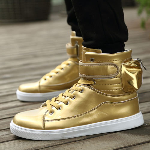 Fashion Mens Casual Loafer High-top Sneakers Running Boots Suede Shoes