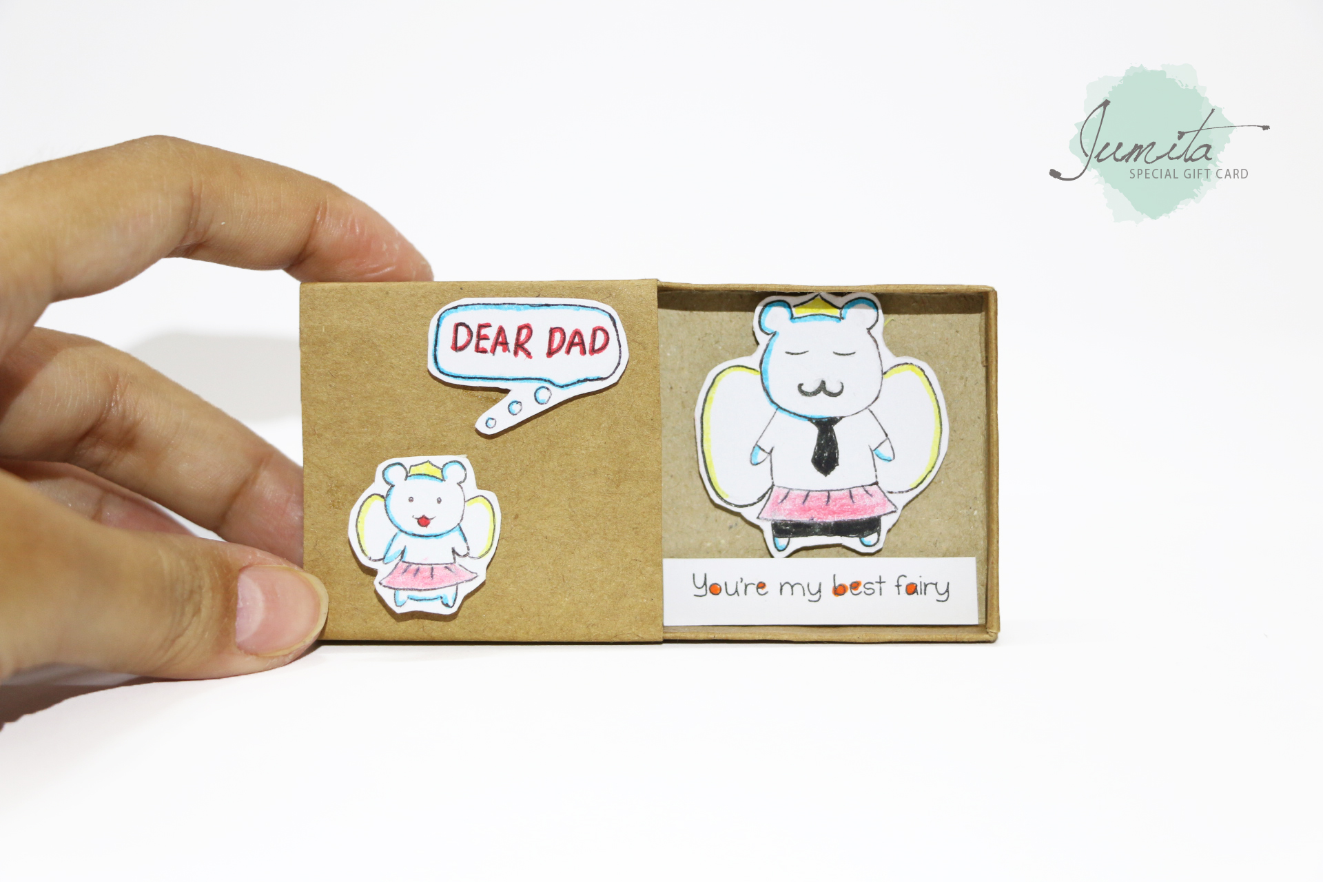 Fathers Day Gift Card/ Love Matchbox Cards/ Funny Gift By Jumitagifts