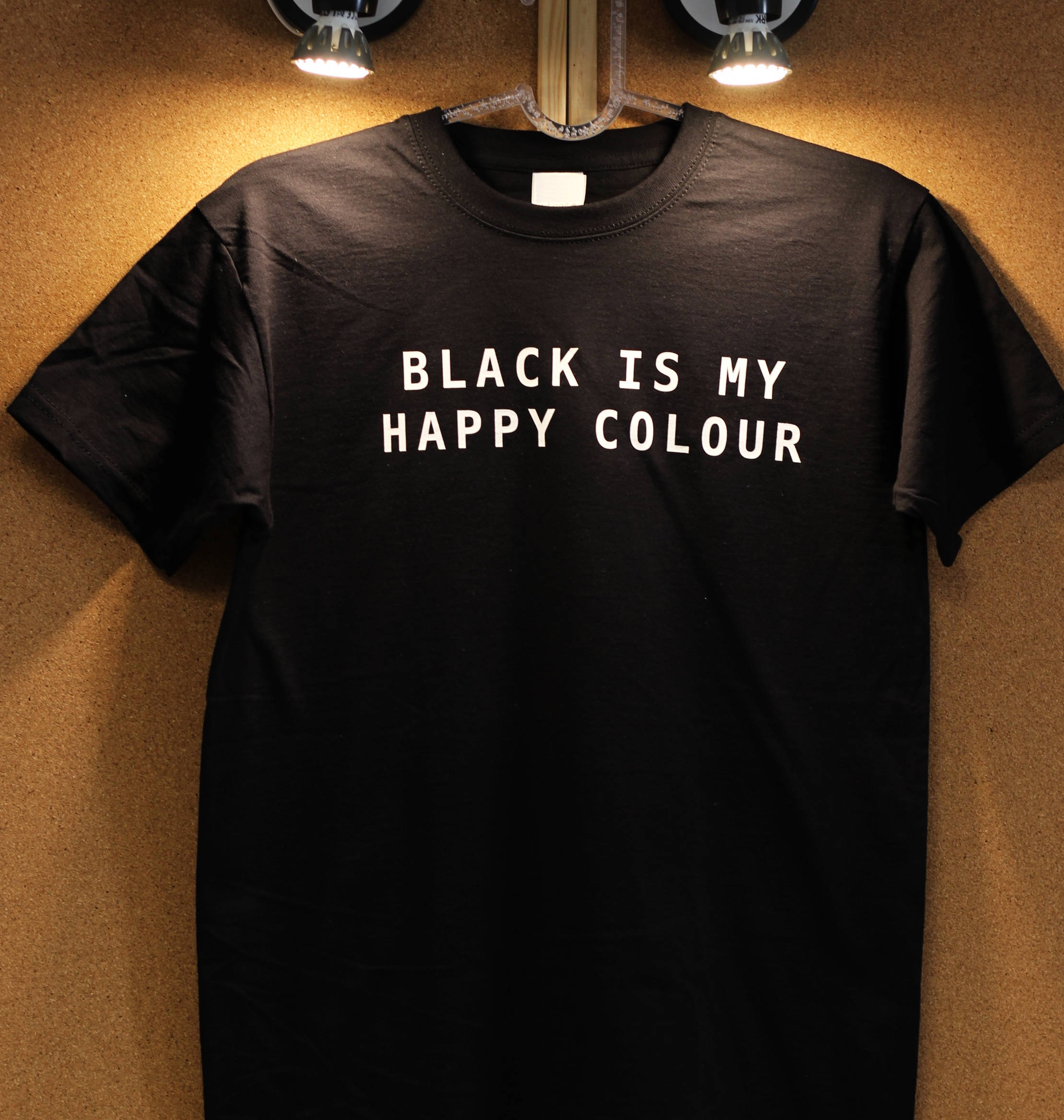 Image of Black is My Happy Colour shirt, Black Tshirt Tumblr Outfit, Instagram fashion Unisex Cotton Tee Shirt