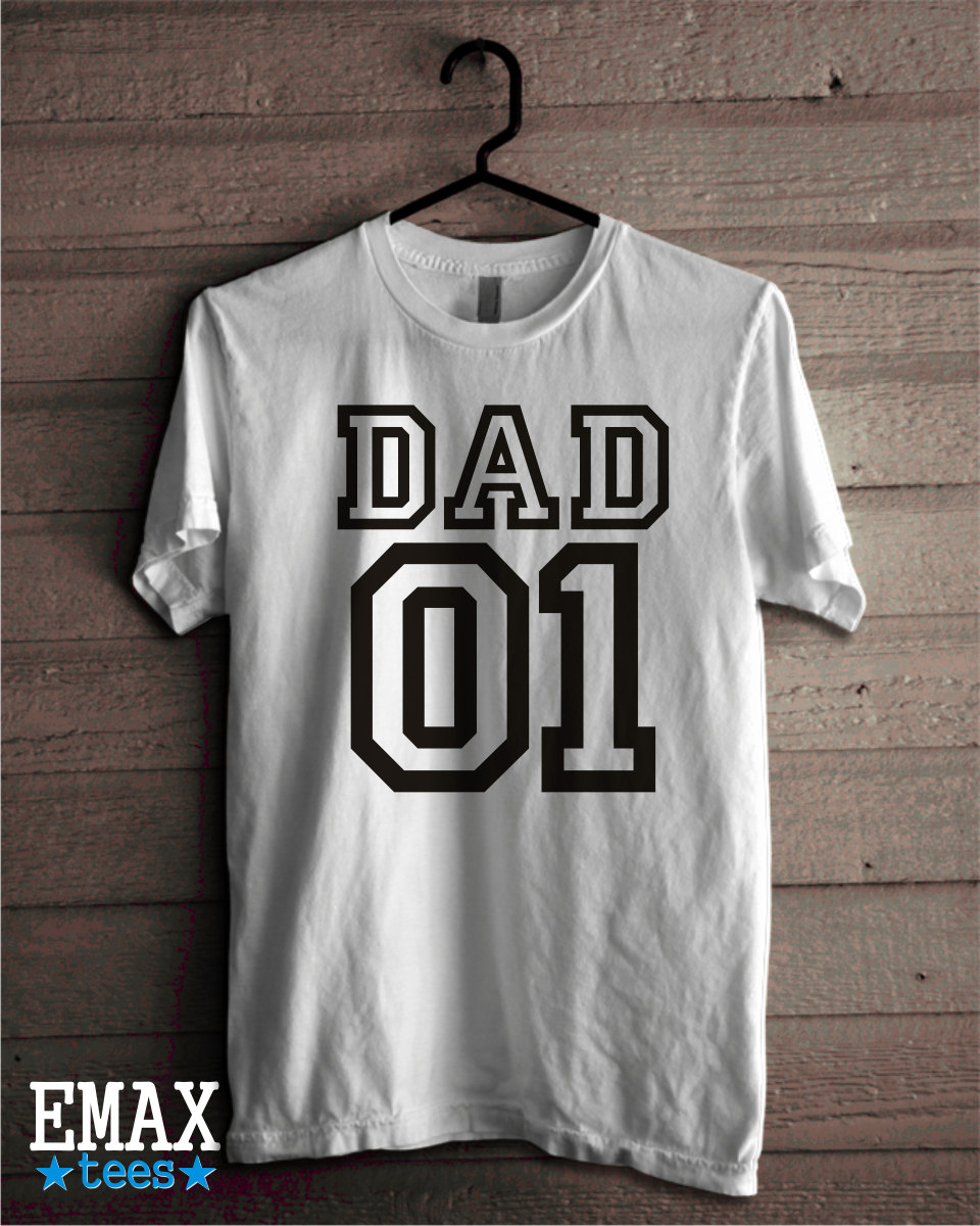 Gifts For DadFathers Day Ideas T-shirtFathers Day GiftFathers Day TshirtDaddy Number One Clothing Style 100% Cotton Outfit