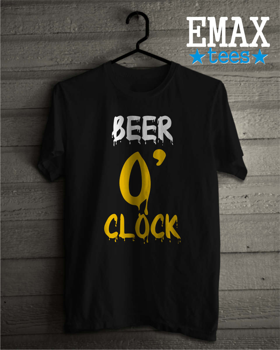 Image of Beer O'clock T-shirt, Funny Beer Shirt, Tumblr Clothes Sayings tee, Unisex 100% Cotton Shirts, Instagram Outfit