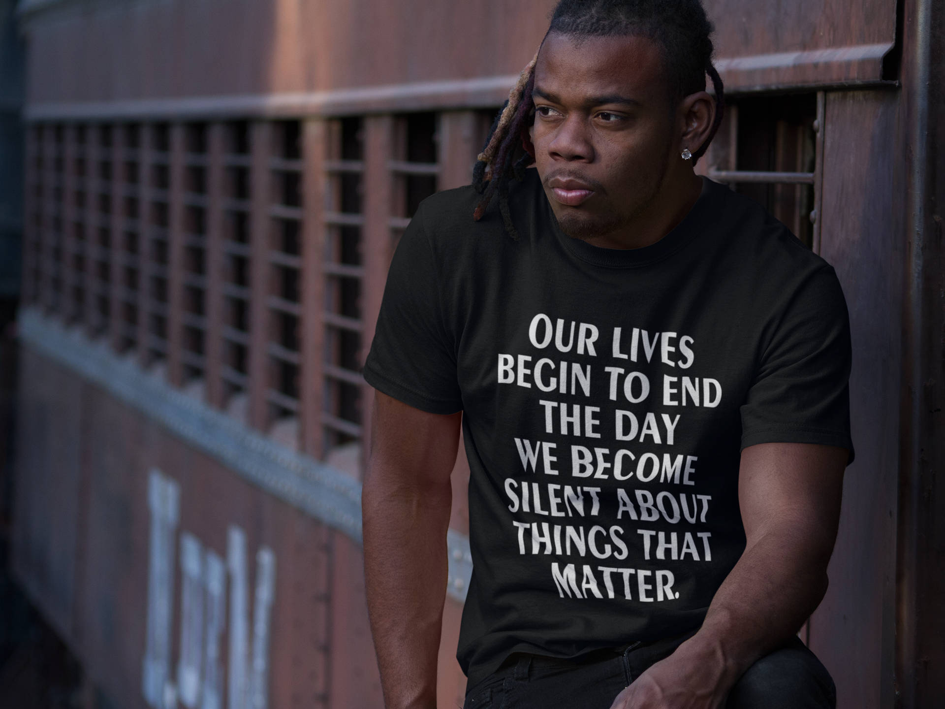 Image of Blm T-shirt, Martin Luther King Shirt, Our Lives Begin to End the Day we Become Silent , Black Lives Matter T shirt, Civil Rights Movement