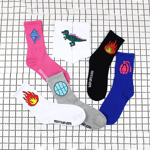 Harajuku Street Trendy Print Socks Mens Fashion Stockings Dc566