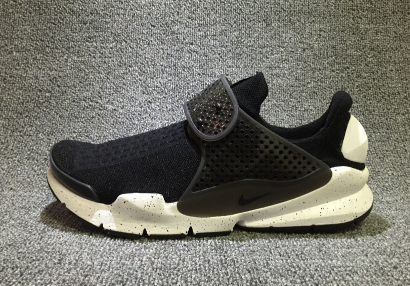 Mens Nike Sock Dart Br Running Shoe White/black