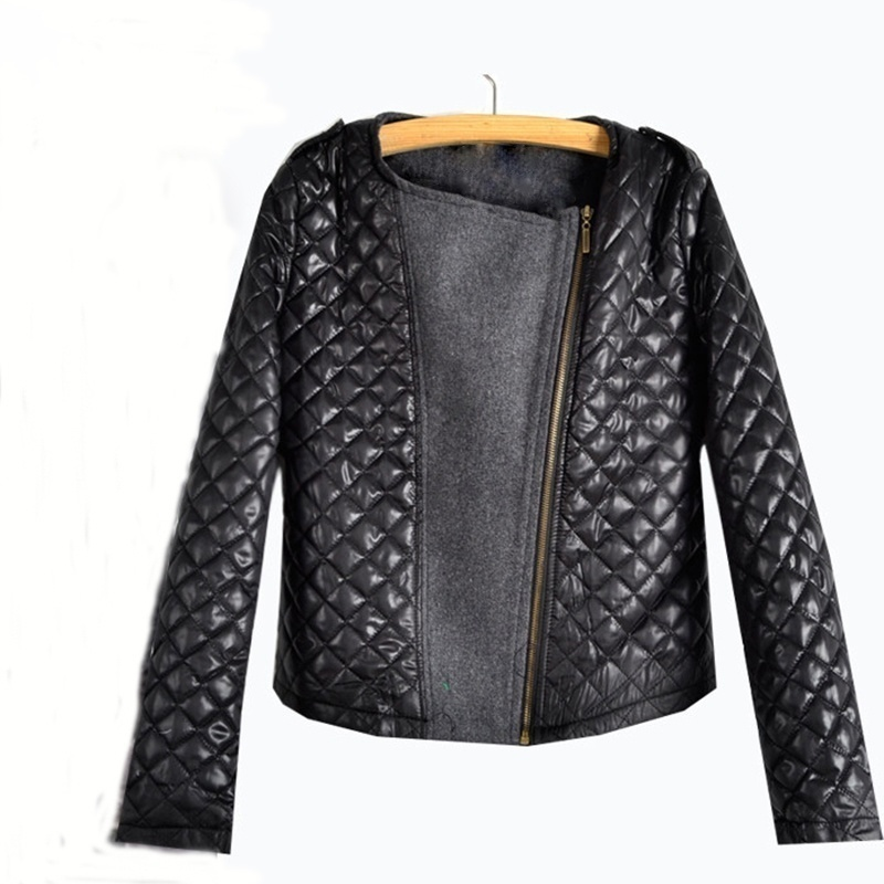 2017 Autumn Winter Coat Thin Women Zip Long Sleeve Patchwork Down Parka Womens Fashion Thin Cotton Jacket Outerwear