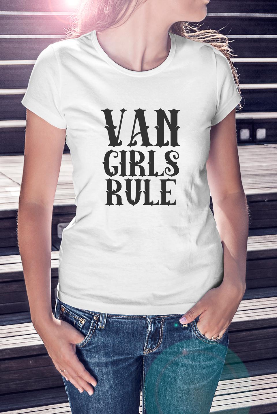 Van Girls Rule Womens Tee