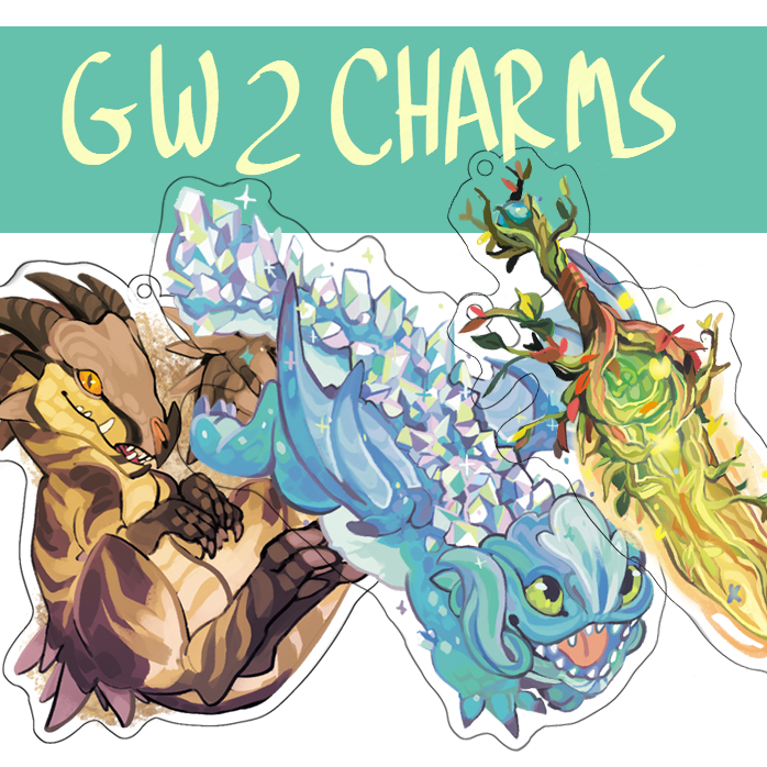 Guild Wars 2 Acrylic Charms from Ybeep
