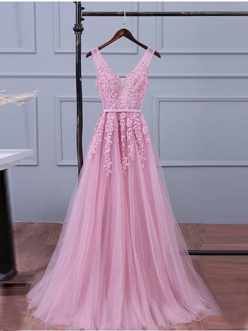 V Neckline Prom Dress-prom Dresses-evening GownGraduation Party DressesProm Dresses For Teens