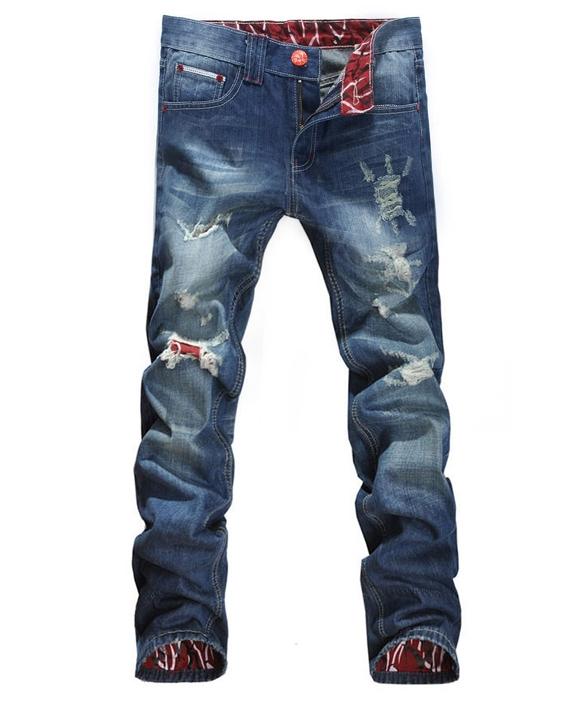 Trousers Leg Jeans Mens Denim Pants Style Casual Hot Fashion Leggings