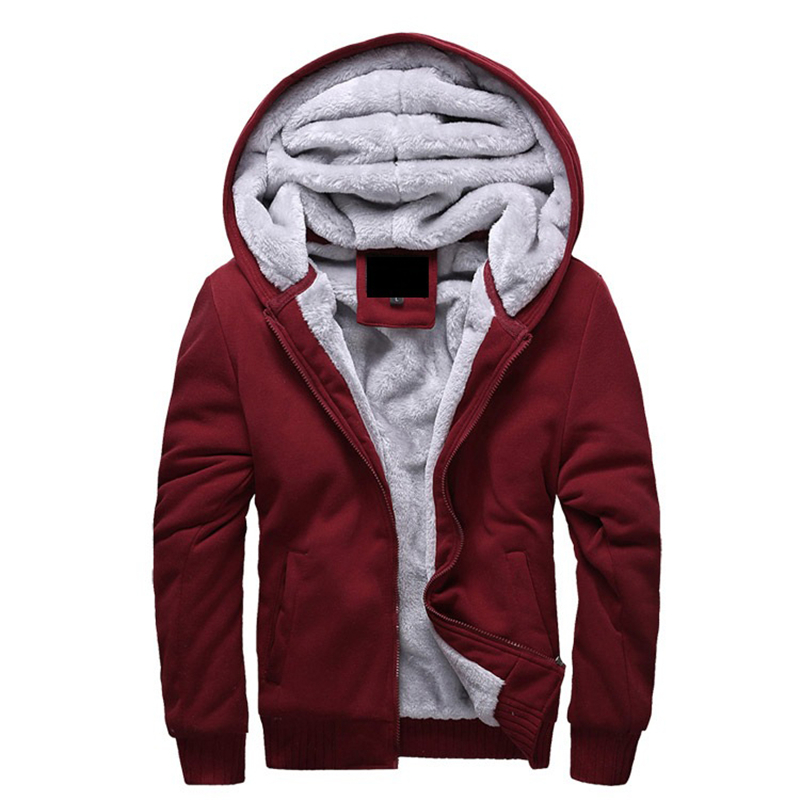 2017 New Jacket Men Thick Overcoat Winter Warm Mens Jackets And Coats Casual Hoodies Solid Homme Brand Clothing