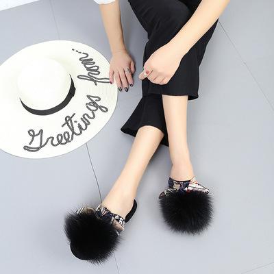 Fashion black bow tie flat shoes