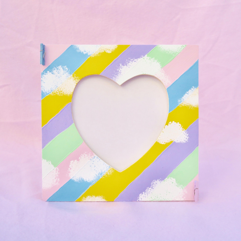 Handpainted Love Stripes Frame