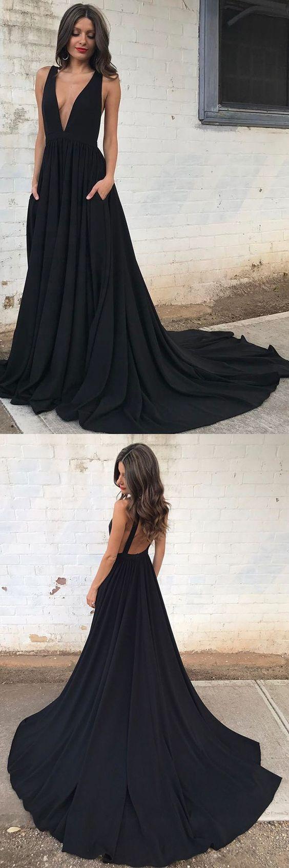 Hem Prom Dresses Gown Evening Dresses Deep V Neck Evening Dresses Sheer Back Evening Dresses