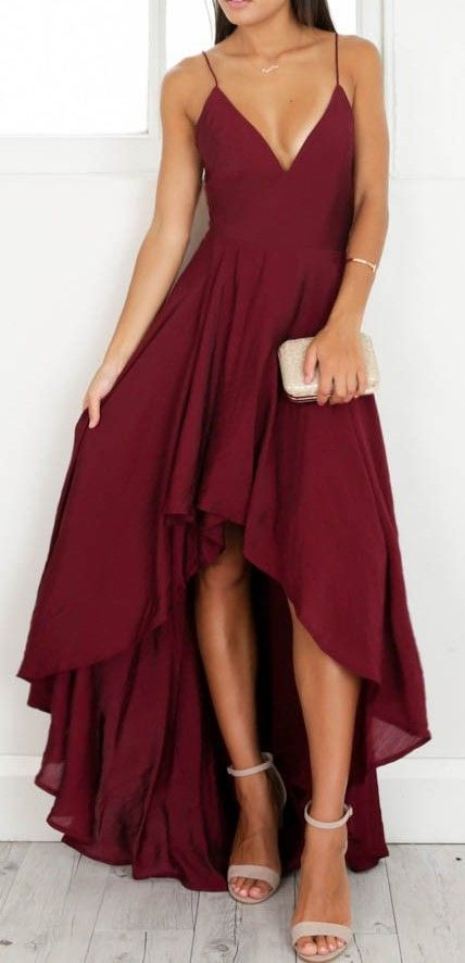 Dressytailor 2018 High-low Spaghetti Straps Cross Back Elegant Prom Evening Gown
