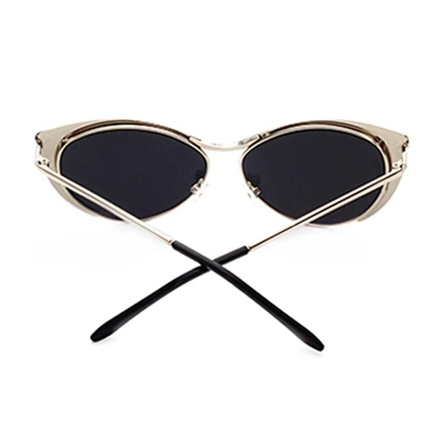 2aefc6870435 Vintage Women's Retro Cat Eye Sunglasses Metal Oversized Designer Vintage  Fashion Shades 2017