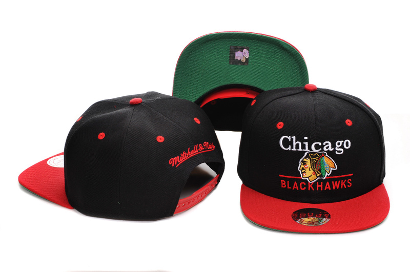 Mitchell & Ness Chicago Blackhawks Throwback Snap-back Hat Salesale