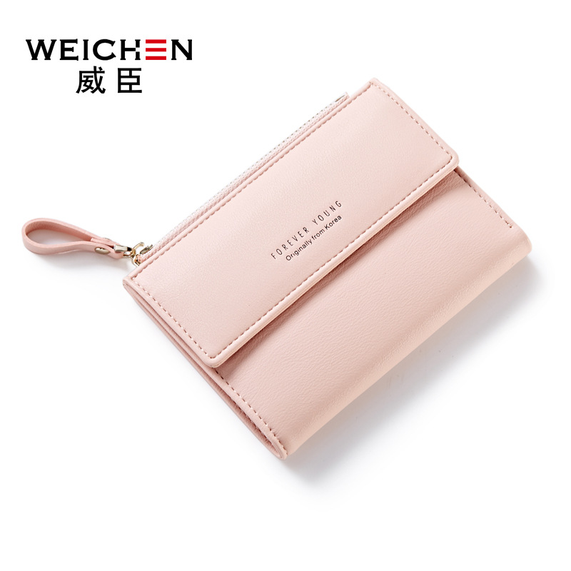 d338858483a 2017 new women wallet Japan and South Korea buckle simple multi-card  position two fold wallet from supplier
