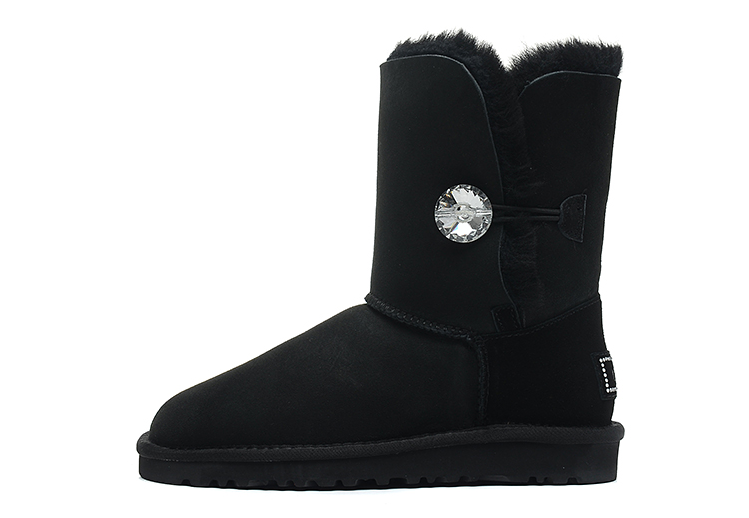 Ugg Australia Womens Bailey Button Bling Black Boot 3349