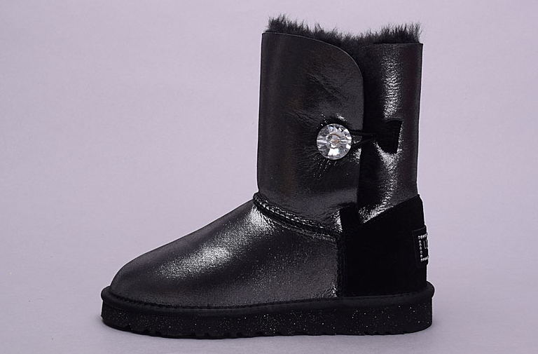 Ugg Australia Womens Bling Bailey Button 1007424 Boot Black