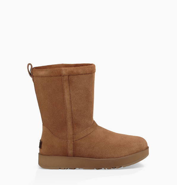 Chestnut Womens Shoes Ugg Classic Short Waterproof Suede Boot 1017508