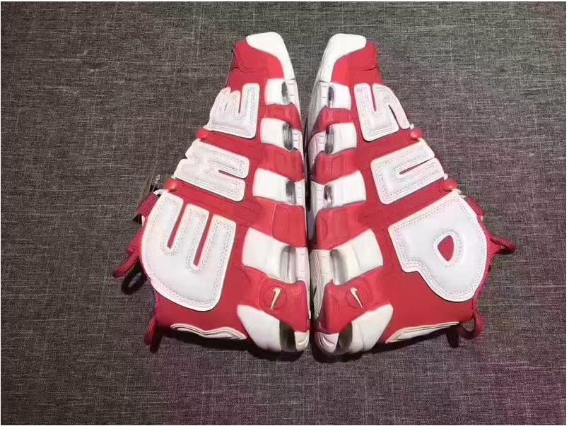 supremo x nike air più ritmo della squadra rosso  bianco per la vendita nel 2017