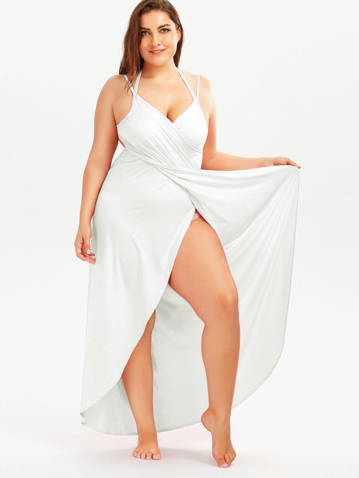 Big Size Womens Beach Dress Sleeveless Sleeveless Casual Cover Up Dress