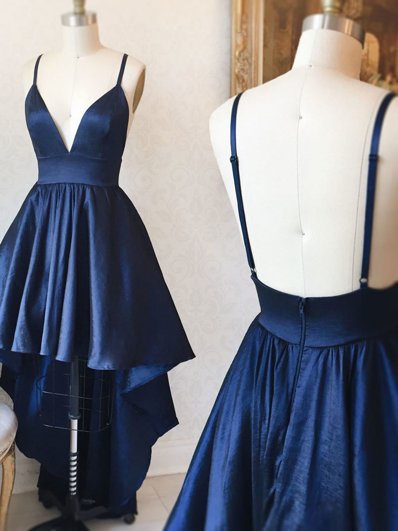 cd684b0d2cc5 Simple A-Line Dark Navy Homecoming Dress