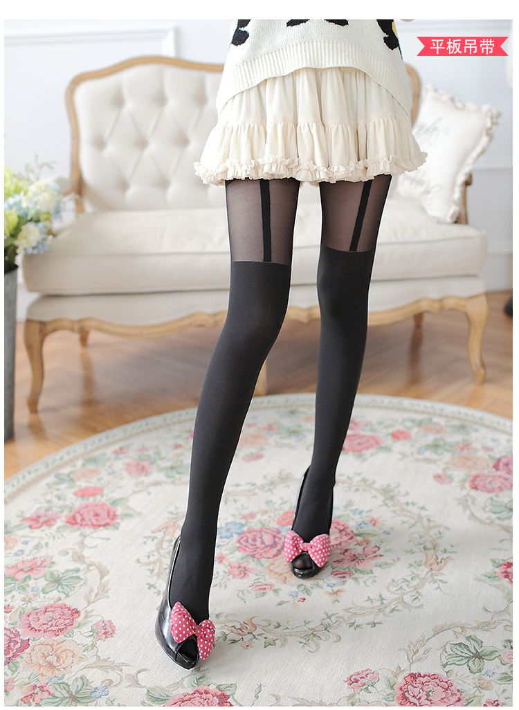 Cute Solid Black Sexy Stockings Tights