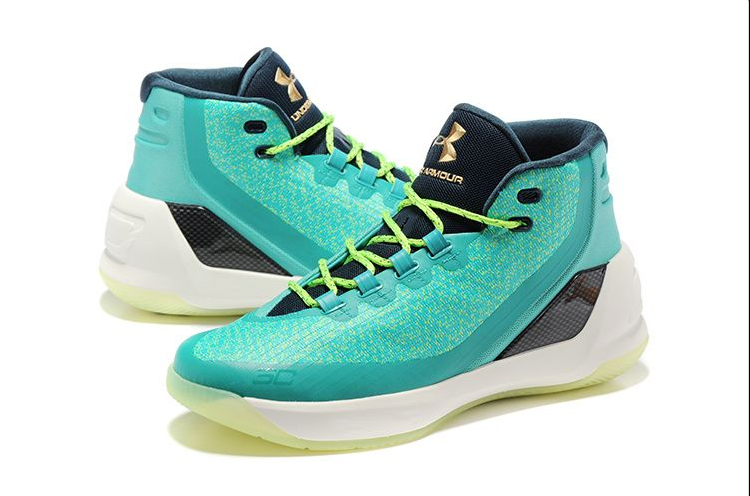 Under Armour Curry 3 Greign Waterg Teal-white For Sale