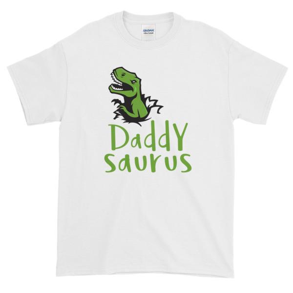 Daddysaurus Funny Fathers Day Dads T-shirt Gift Birthday Christmas Matching Dinosaur Short-sleeve T-shirt