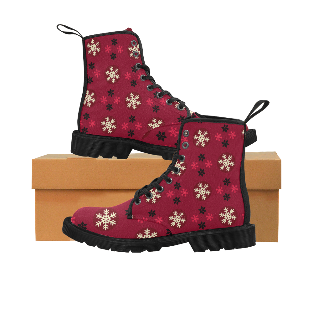 Red Snow Christmas Womens Boot