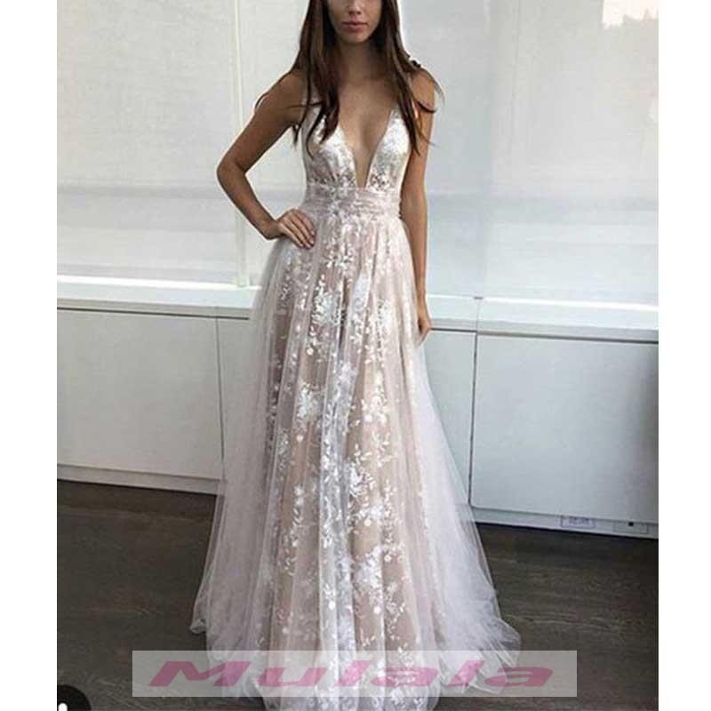 Summer Beach Wedding Dress,Boho Wedding Dress,A Line