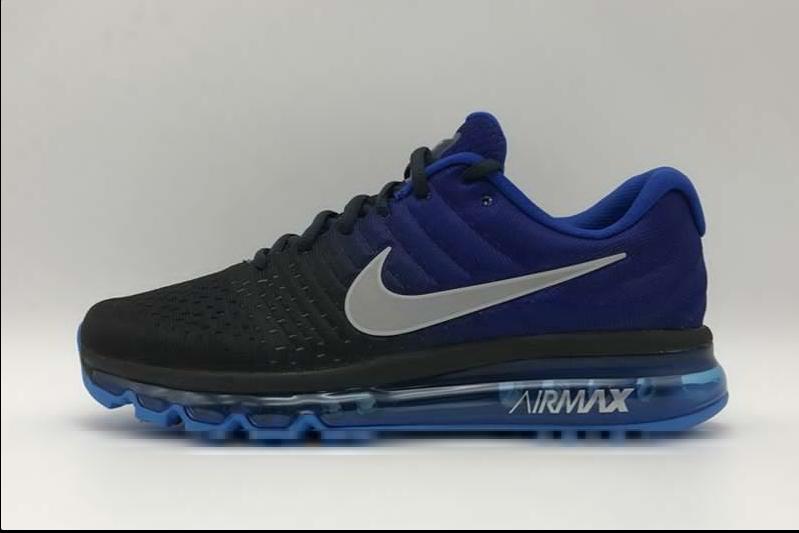 Nike Air Max 2017 Mengs Training Running Shoes Black Blue Cheap Sale