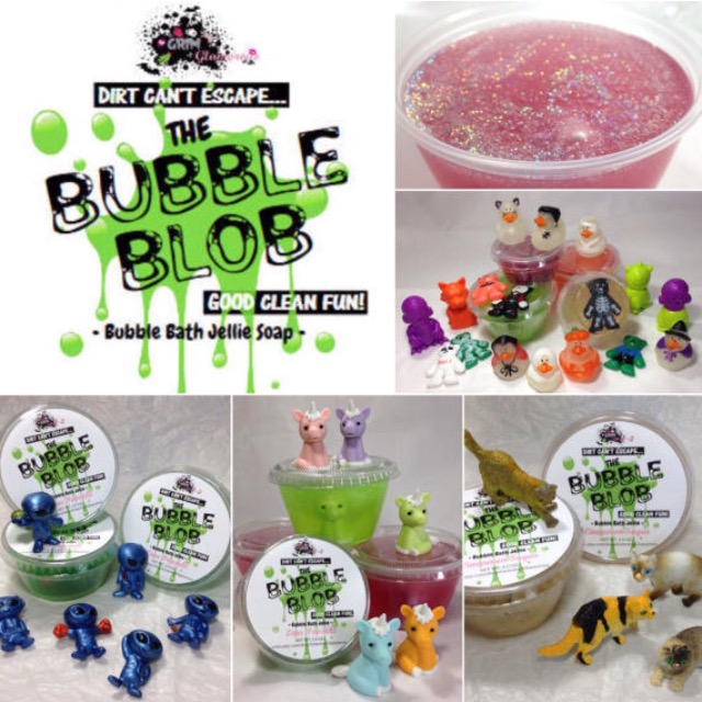 Bubble Blob Bubble Bath Jellie Soap With A Toy Surprise Inside (jelly Bubble BathJelly SoapJiggle SoapShower JellyParty Favor Soap)