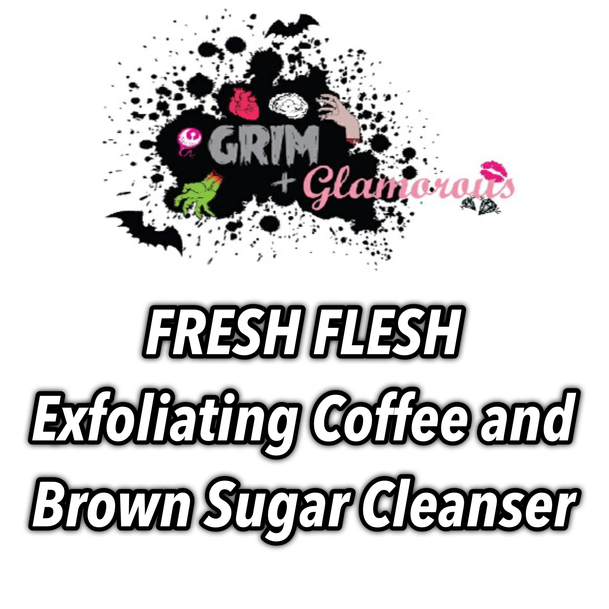 Fresh Flesh Exfoliating Coffee And Brown Sugar Cleanser (cream Soap-cream Body Wash-sugar Scrub-coffee Scrub-olive/almond/vit E Oil Soap)