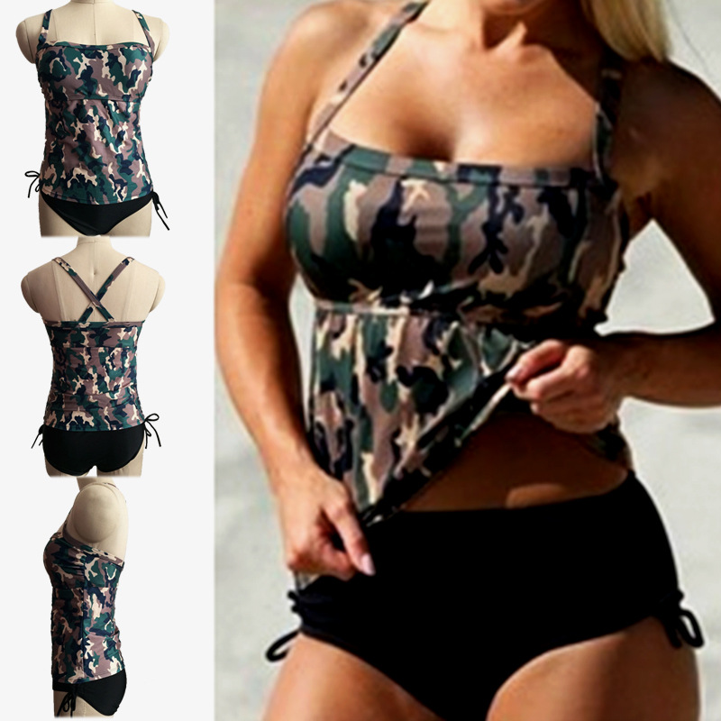 Womens Bikini Set Swimwear Bra+panties Beachwear Plus Size